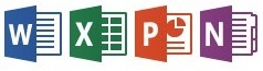 Word, Excel, Powerpoint, OneNote